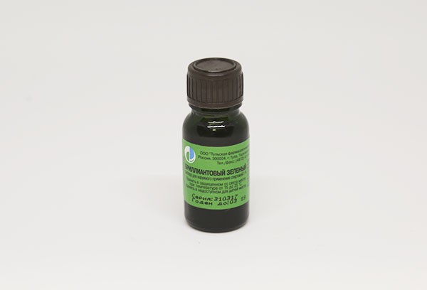 Бриллиантовый зеленый 1% р-р спирт 10мл с лопаткой