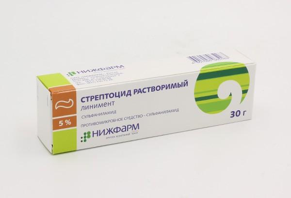 Стрептоцида 5% линимент 30г