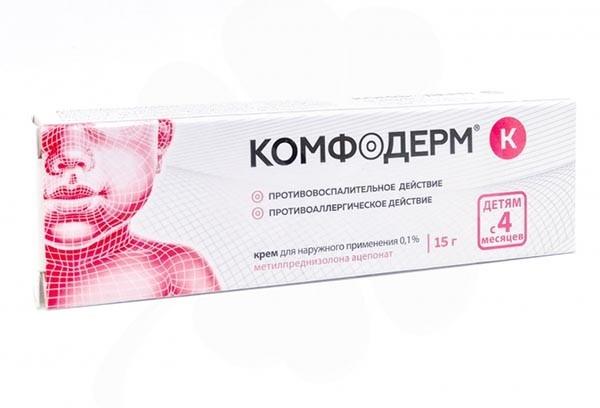 Комфодерм К 0,1% крем д/наруж прим 15г