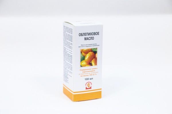 Облепиховое масло фармакопейное (180мг карат) 100мл