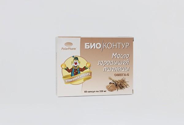 Масло зародышей пшеницы капс 60 БАД