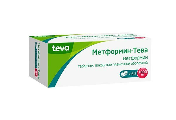 Метформин-Тева 1000мг тбл п/п об 60