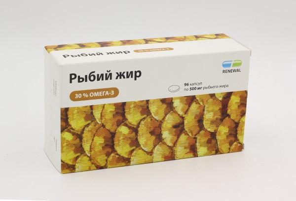 Рыбий жир  500мг капс 96 БАД /RENEWAL/