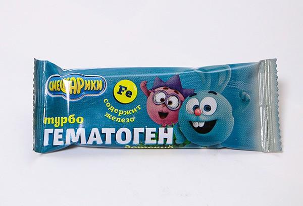 Гематоген Турбо детский Смешарики 35г БАД