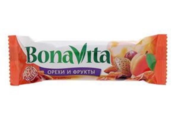 ДП Батончик Бона Вита орех мед фрукты 35г