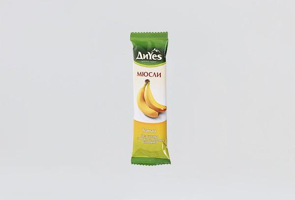 ДП Батончик мюсли ДиYes банан с шок без сахара 25г