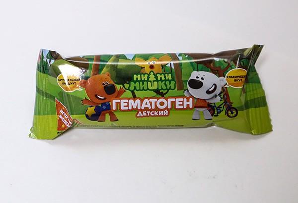 Гематоген детский Ми-Ми-Мишки 40г БАД
