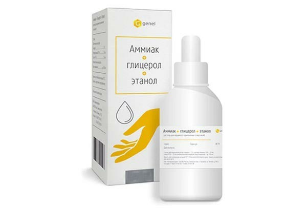 Жидкость для рук (Аммиак+Глицерол+Этанол) 80мл