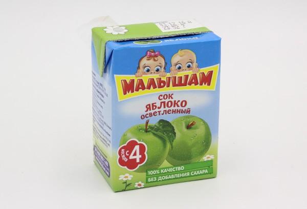 Детский Сок Фрутоняня Малышам яблоко осветлен 200мл