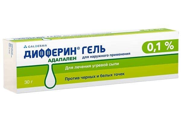 Дифферин 0,1% гель 30г туба