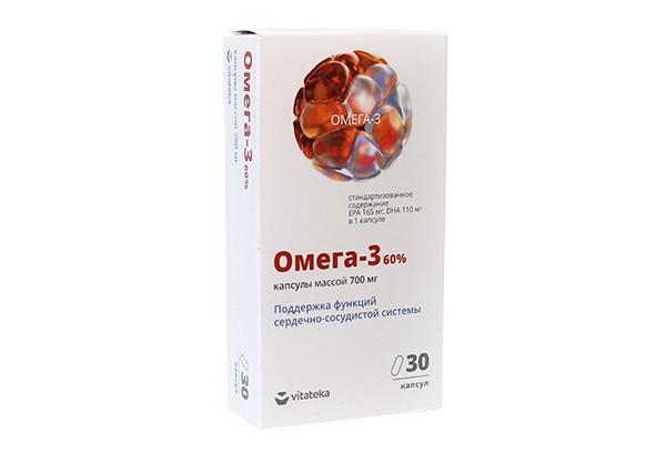 Витатека Омега-3 35% 1400мг с вит Е капс N30 БАД