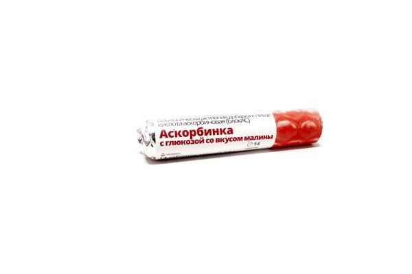 Витатека Аскорбиновая к-та с глюкозой фруктовая тбл 14 БАД