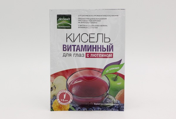 Кисель Леовит витамины для глаз с лютеином пак 18г