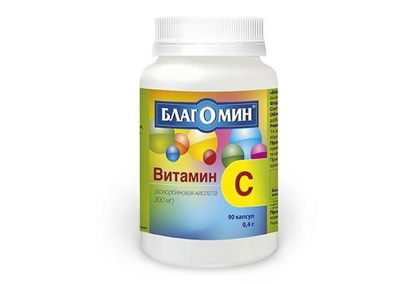 Витамин С 300мг капс 90 БАД/Благомин