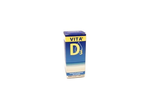Витамин Д Вита Д3 500МЕ р-р д/внутр примен 10мл БАД