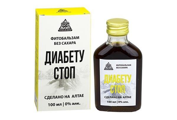 Фитобальзам Диабету Стоп б/сахара 100мл