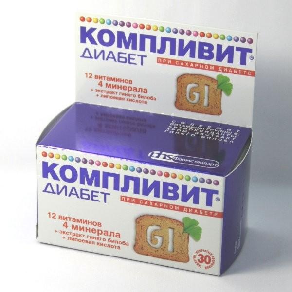 Компливит Диабет тбл п/об 30 БАД