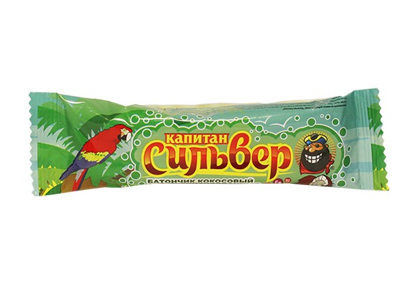Батончик Капитан Сильвер кокос витамин в белой глаз 50г БАД