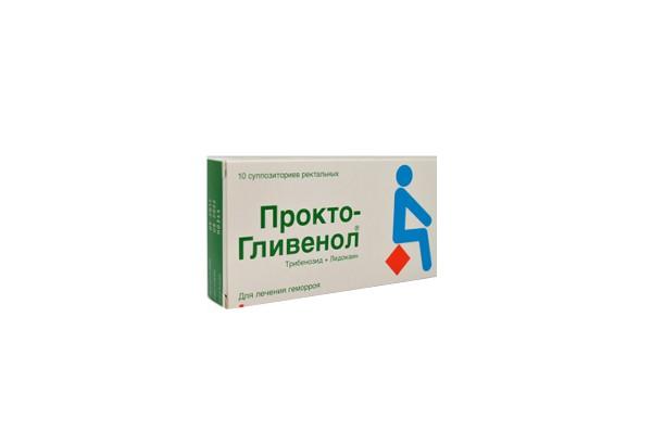 Прокто-Гливенол супп рект 10