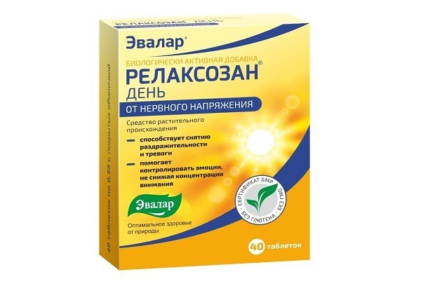 Релаксозан тбл п/об 40 БАД Эвалар
