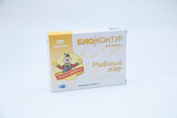 Рыбий жир капс 100 БАД (Россия)