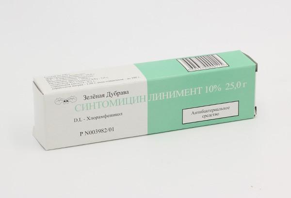 Синтомицина 10% линимент 25г