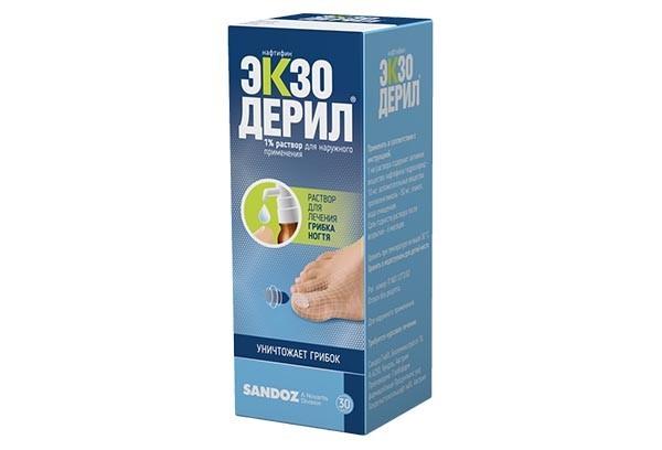 Экзодерил 1% р-р д/наруж прим 20мл