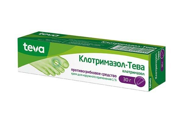 Клотримазол -Тева 1% крем д/наруж прим 30г