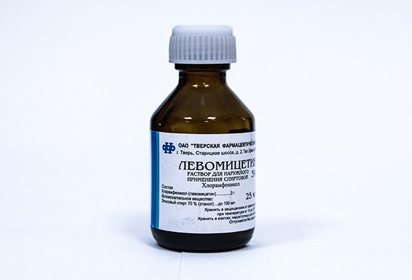 Левомицетина 3% спирт.р-р 25мл